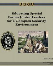 Cover of: Educating Special Forces Junior Leaders for a Complex Security Environment