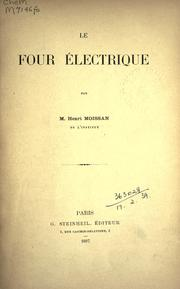 Cover of: Le four electrique