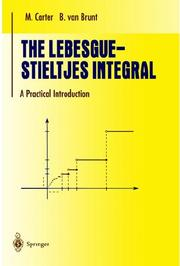Cover of: The Lebesgue-Stieltjes integral: a practical introduction