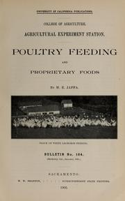 Cover of: Poultry feeding and proprietary foods