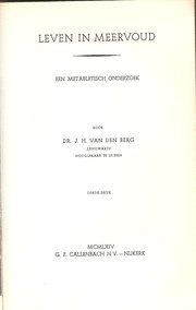 Cover of: Leven in meervoud