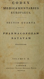 Cover of: Codex medicamentarius Europaeus