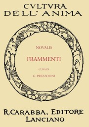 Cover of: Frammenti