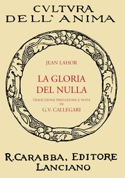 Cover of: La Gloria Del Nulla