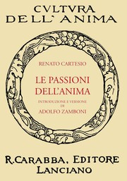 Cover of: Le Passioni Dell'Anima
