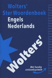 Cover of: Wolters' Ster Woordenboek Engels-Nederlands