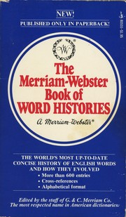 Cover of: The Merrriam-Webster Book of Word Histories