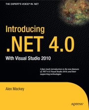 Cover of: Introducing .NET 4.0 with Visual studio 2010