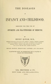 Cover of: The diseases of infancy and childhood