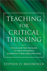 Cover of: Teaching for critical thinking