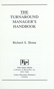Cover of: The turnaround manager's handbook