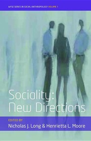 Cover of: Sociality: New Directions