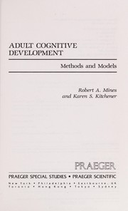 Cover of: Adult cognitive development