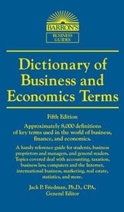 Cover of: Dictionary of business and economics terms
