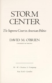Cover of: Storm center: the Supreme Court in American politics