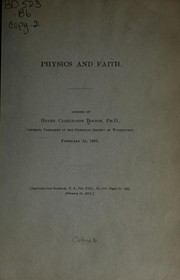 Cover of: Physics and faith