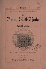 Cover of: Das Wiener Stadt-Theater