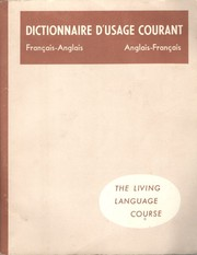 Cover of: Common usage dictionary, French-English, English-French