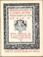 Cover of: Shakespeare's comedy of The merchant of Venice