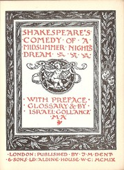 Cover of: Shakespeare's comedy of A midsummer night's dream