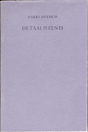 Cover of: De taal is een ei