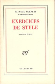 Cover of: Exercises de style