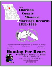 Cover of: Early Chariton County Missouri Marriage Index 1810-1858