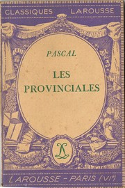 Cover of: Les  provinciales, extraits