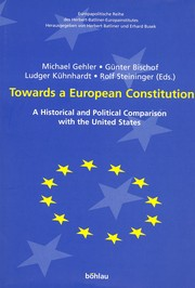 Cover of: Towards a European Constitution