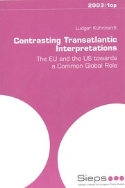 Cover of: Contrasting Transatlantic Interpretations