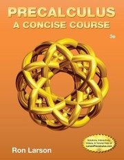 Cover of: Precalculus: A Concise Course / Edition 3