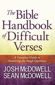 Cover of: The Bible handbook of difficult verses