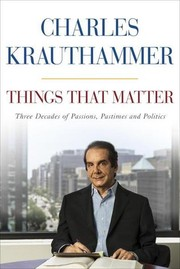 Cover of: Things That Matter