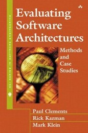 Cover of: Evaluating Software Architectures: Methods and Case Studies