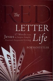 Cover of: The Red Letter Life
