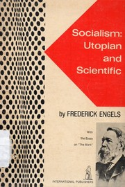"Cover of: Socialism: utopian and scientific : with the essay on ""The mark"""