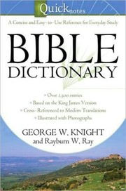 Cover of: Quick Notes Bible Dictionary