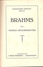 Cover of: Brahms
