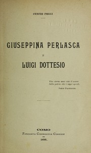 Cover of: Giuseppina Perlasca e Luigi Dottesio