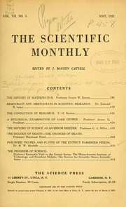Cover of: The history of mathematics