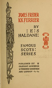 Cover of: James Frederick Ferrier