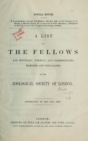 Cover of: List of fellows