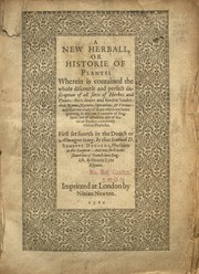 Cover of: A new herball, or, Historie of plants