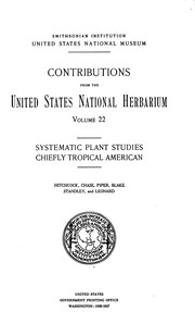 Cover of: Contributions from the United States National Herbarium