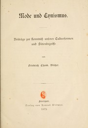 Cover of: Mode und Cynismus