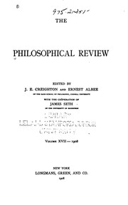 Cover of: The Philosophical review