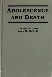 Cover of: Adolescence and death