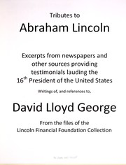 Cover of: Tributes to Abraham Lincoln
