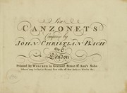 Cover of: Six canzonets.  Op. [6]