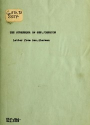 Cover of: The surrender of Gen. Johnston